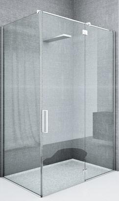 Box doccia con cerniere con alzata in apertura B-501 B-502