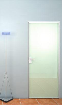 Porte battenti intelaiate in alluminio PO-100
