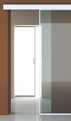 Porte scorrevoli intelaiate in alluminioSliding doors with a...